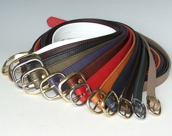 "1"" Soft Leather Belts - strong and durable"