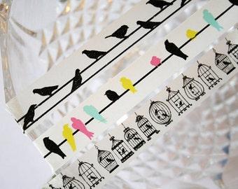 Colored Bird Washi Tape
