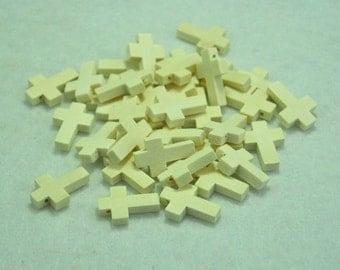 Wood Cross 22x15mm,20pcs Unfinished Small Bare Wood Cross Bead,Wood Cross Pendant,Wood Cross Necklace