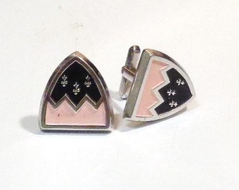 Sterling Silver 'Coat of Arms' Cuflinks