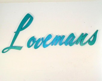 Lovemans Department Store Sign