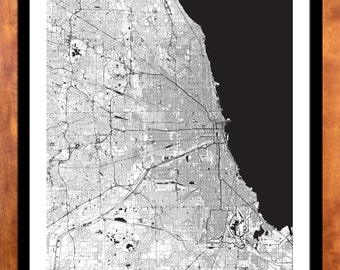 Chicago Street Map- Gateway Cities / Regional Cities, Various Sizes