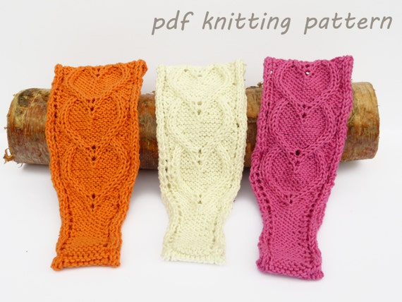 Cabled Heart Headband Digital Knitting Pattern by Knittiana