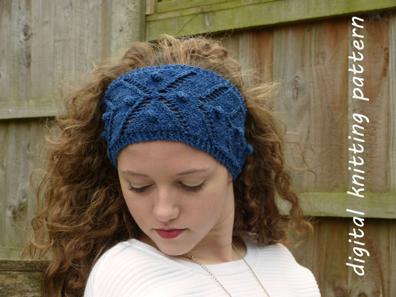 Knitting Yrn P2tog : Knitting pattern pdf chevron and bobble headband