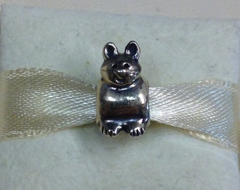 Authentic Pandora Silver Kitty Charm #790284