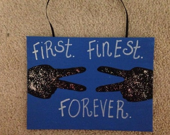 First.Finest.Forever ADPi Handmade 8x10 Canvas