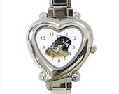 Green Cheek Conure Parrot Bird Ladies Women's Heart Italian Watch