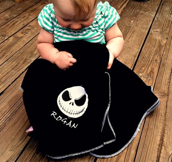 Jack Skellington Fleece Baby Blanket Nightmare Before