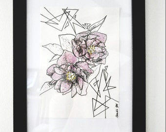 Floral graphic / watercolor
