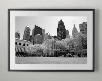 Midtown Manhattan skyscrapers and Bryant Park, Fine Art Photography, Home decor, Office Wall Art, Fine Art Photograph