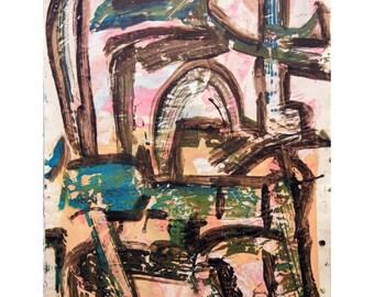 O for Love Series #1. Giclee Fine Art Print: , Abstract Art, Wall Art, Home Office Decor