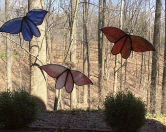 Stained Glass Butterfly on a Suction Cup