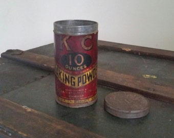 Antique Rustic Baking Powder Can
