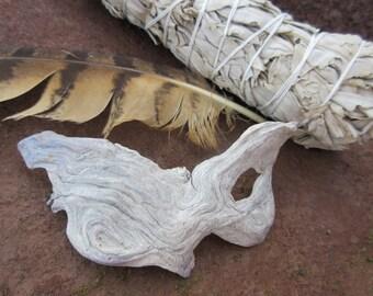 Owl Feather & Driftwood Spirit Mask