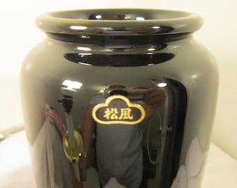 Vintage Classic-Straight Ikebana Vase - Black