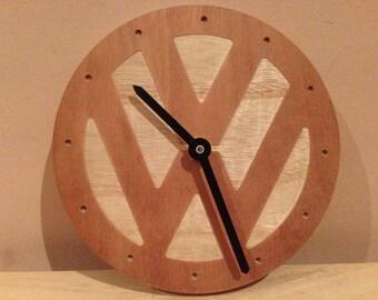 VW Logo Wooden clock