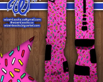 Donuts Custom Nike Elite Socks