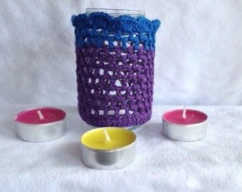 Crochet candlelight holder/Waxinelichthouders crochet