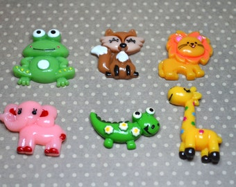 Cute Flatback Animals*Resin Cabochons