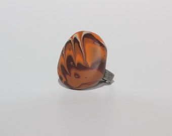Adjustable circular polymer clay ring