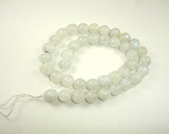 Moonstone Beads, Round, 10mm(9.6mm), 15.5 Inch, Full strand, Approx 38-41 beads, Hole 1 mm (321054018)