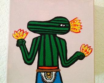 Squash Kachina Painting