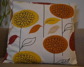 "Soft cotton flower  pillow cover 16x16"""