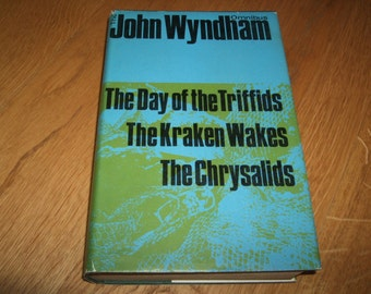 JOHN WYNDHAM-Day Of The Triffids/The Kracken Wakes/The Chrysalids-hb-vg-1st Omnibus Edition-1964-Rare-What An INVESTMENT