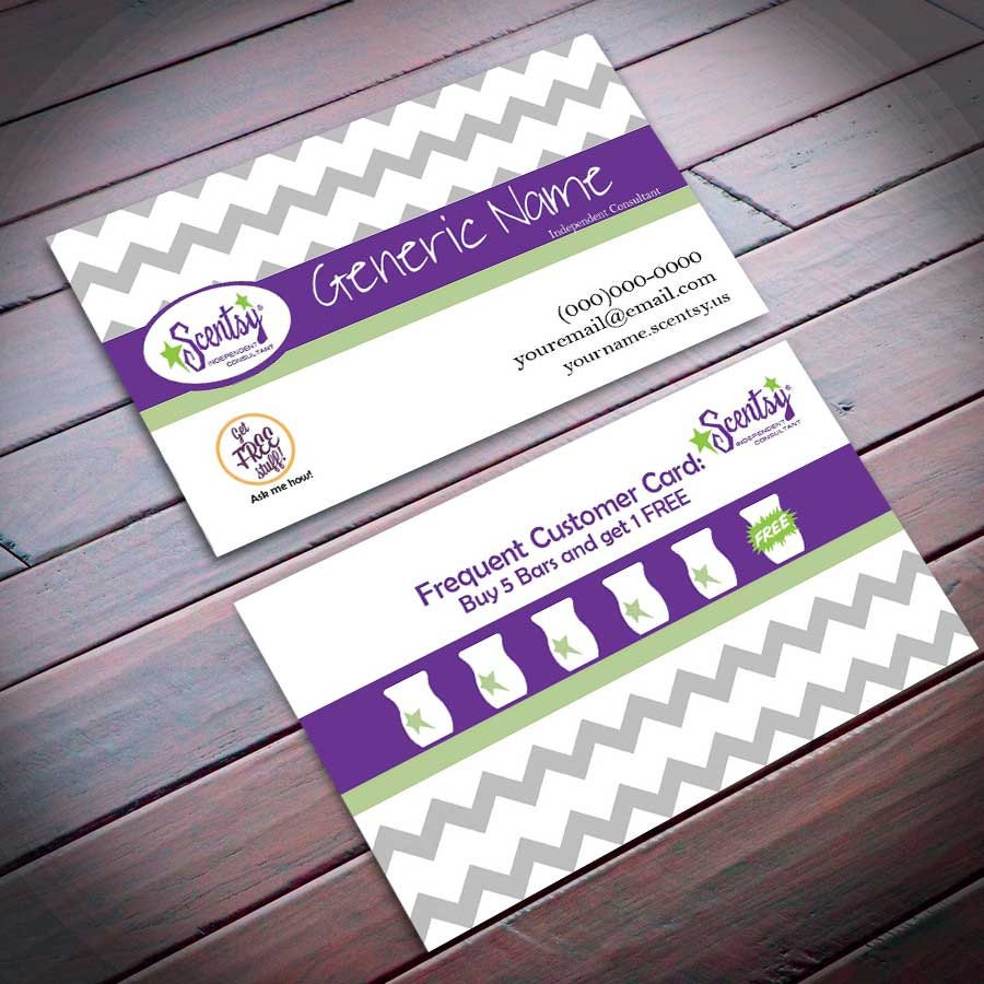 Scentsy Business Card with frequent er by DirectSalesbyMojo