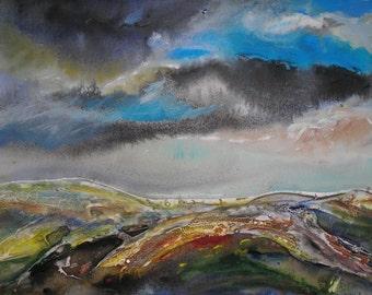 original acrylic landscape painting on canvas