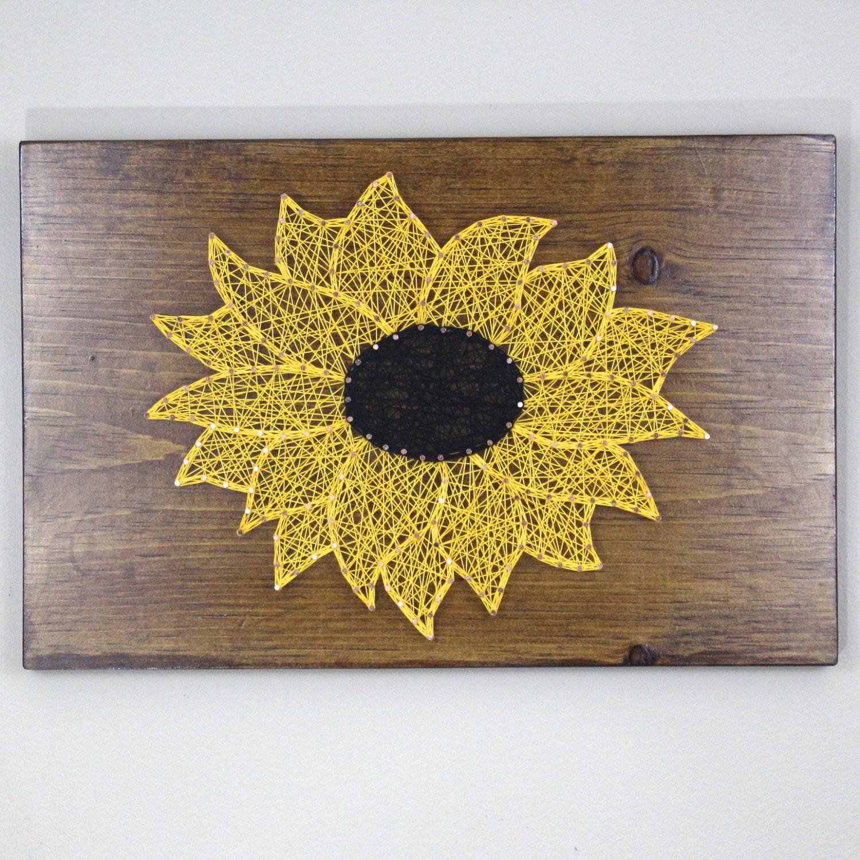Sunflower String Art Patterns - Patterns Kid