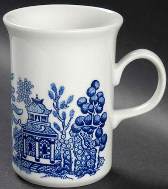 SAVE 25% WITH CODE: SAVE25 Vintage Mug in Willow-Blue (Georgian Shape) by Churchill China