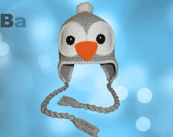 Crochet hat pinguin