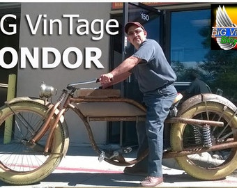 "CONDOR"" BASIC. BiG VinTage Bicycles Huge Beach Cruiser Electric Power Fat Tire Bicycle Balloon Tire Bike Rat Rod Bikes"