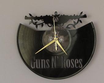 Guns N Roses clock, Wall clock, vinyl record wall clock, vinyl wall clock,vinyl record clock, vinyl clock