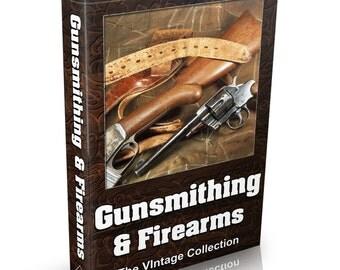 Gunsmithing Firearms and Guns - MASSIVE 125 Vintage Books on DVD Pistols & Rifles