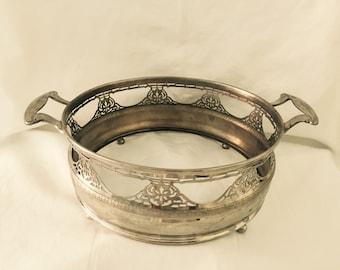 Royal Rochester, Chromed Casserole caddy, Serving Bowl holder, pierced design