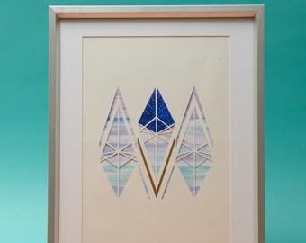 MINER∆L CØLL∆GE - Geometric Painterly Artwork