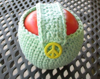 Apple, Fruit Cozy, Crochet, Ready To Ship