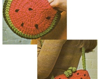 Crochet patterns fruit bags (vintage)