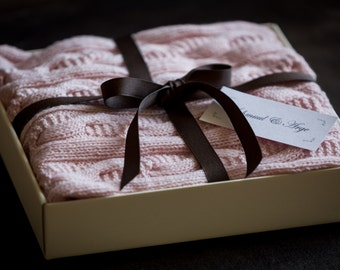 Cashmere Baby Blanket in Pink