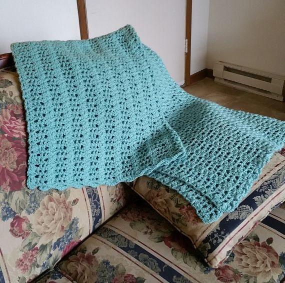 crochet afghan blanket home decor acrylic machine