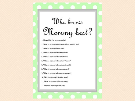 Tactueux image inside free printable baby shower games who knows mommy the best