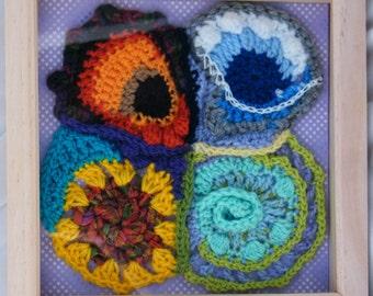 Four Seasons Crochet Wall Art REDUCED