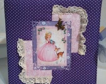 Baby Girl Scrapbook Album 12 x 12 Ready for your 4x6 photos premade handmade