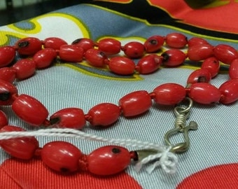 Red Coral Colour Beads