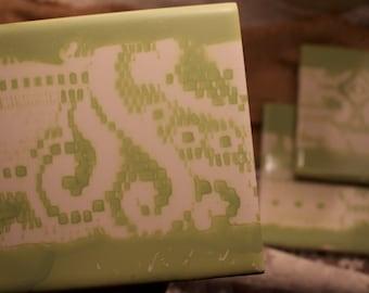 4 Mint Green Coasters