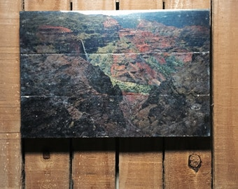 Landscape - Waimea Canyon - Kauai - Hawaii - 11x17 - Wood Wall Art - Handmade Wood Sign - Home Decor
