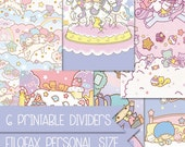6 Little twin stars printable dividers for filofax personal size