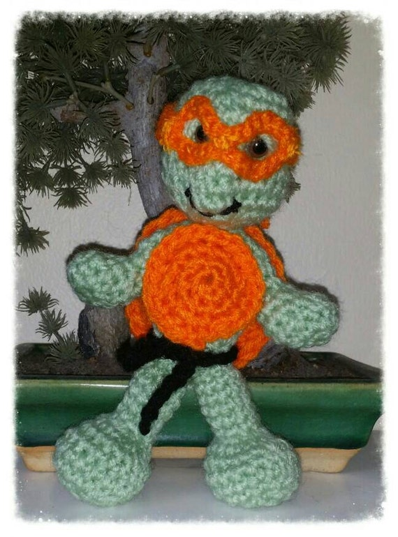 Amigurumi Ninja Turtle : Amigurumi Ninja turtle handmade stuffed toy by ...
